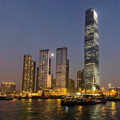 Hong Kong sunset (StreetView)