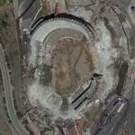Candlestick Park being demolished (Google Maps)