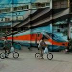 Chinese High Speed Train Mural (StreetView)