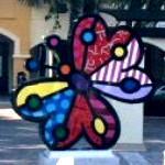 'Garden Butterfly' by Romero Britto (StreetView)