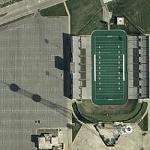 Memorial Stadium & KEOM Radio Tower