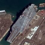 USS Constellation (CV-64) being scrapped (Google Maps)
