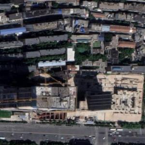 Xinchu Qingtian Plaza Towers under construction (Google Maps)