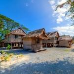 Traditional Melanesian Village in the Solomon Islands