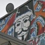 Guy Fawkes graffiti (StreetView)