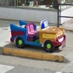 Mini car sculpture (StreetView)