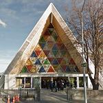'Cardboard Cathedral' by Shigeru Ban (StreetView)