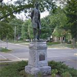 Vandalized Abraham Lincoln statue (StreetView)