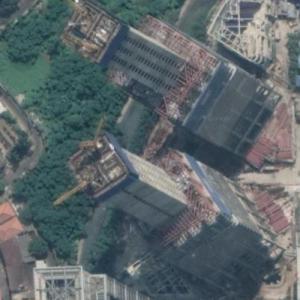 Indonesia Satu Towers under construction (Google Maps)