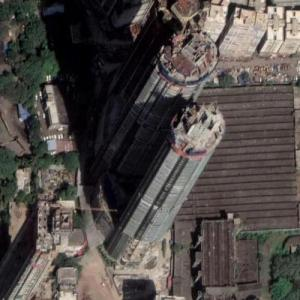 Three Sixty West (tallest building in India) under construction (Google Maps)