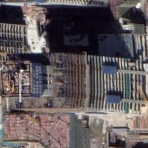 Hongshu Bay Metro Station under construction (Google Maps)