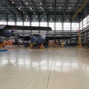 Inside a 33rd Air Base hangar (StreetView)