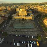 Aerial view of Yerevan's Republic Square