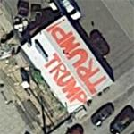 Rooftop endorsement for Donald J. Trump (Google Maps)