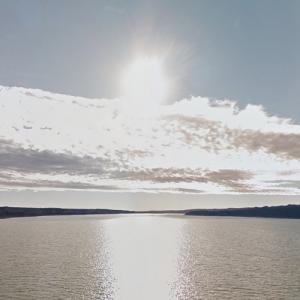 Sun over the Missouri River (StreetView)