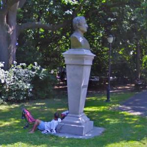Bust of Washington Irving (StreetView)
