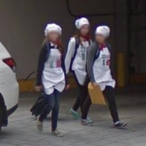 Young chefs with Italian flag on their apron (StreetView)