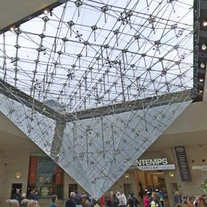 'La Pyramide Inversée' by I.M. Pei (StreetView)