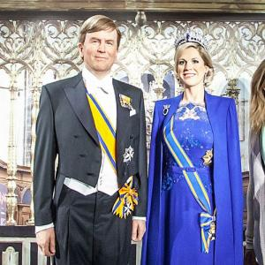 The King and Queen of the Netherlands at Madame Tussauds Amsterdam (StreetView)