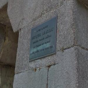 Grand Master Templar Jacques de Molay's execution marker (StreetView)