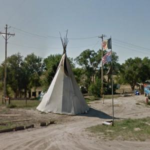 American Indian Movement (AIM) supporter (StreetView)