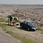 Man hanging out in the Badlands