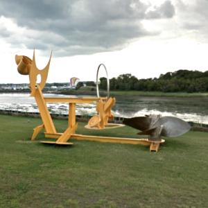'Sunflowers for Vincent' by Mark di Suvero (StreetView)