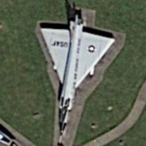 Convair F-102 Delta Dagger (Google Maps)