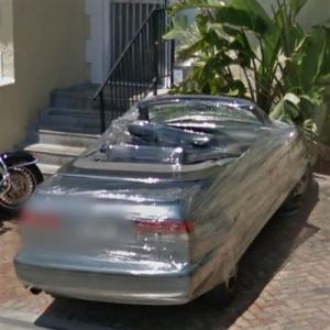 Saab Covered in Plastic Wrap (Prank) (StreetView)