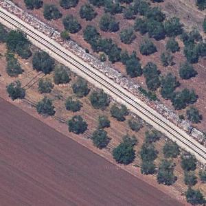 Andria-Corato train collision site (Google Maps)