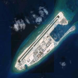 Chinese island building - Fiery Cross Reef (Google Maps)