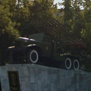 BM-13 Katyusha rocket launcher in Penza, Russian Federation