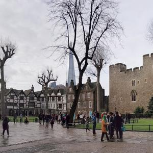 Old and new; Tower and the Shard (StreetView)