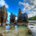 Rock pinnacles of Nauru