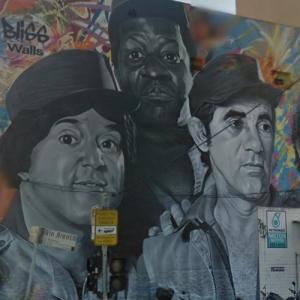 Os Trapalhões (The Bumbling Ones) mural (StreetView)