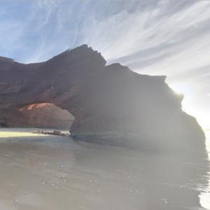 Iconic natural arch collapses on Legzira beach (StreetView)