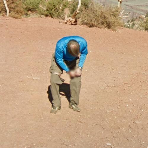Man converting pants to shorts in Grand Canyon, AZ (Google Maps) on google street view man, google earth man, google classic man, netflix man, google map pin, google camera man, apple man, google map person, google street view icon, google pack man, blue tooth man, icons man,