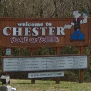 Welcome to Chester - Home of Popeye (StreetView)
