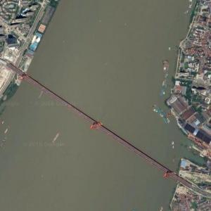 Yingwuzhou Yangtze River Bridge (Google Maps)