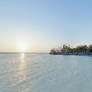 Keys mangroves and sunset (StreetView)