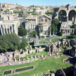 Forum Romanum from the Palatine Hill (StreetView)
