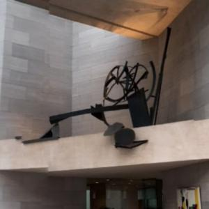 'National Gallery Ledge Piece' by Anthony Caro (StreetView)