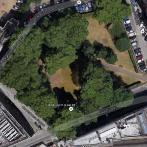 Largest Black Death Burial Pit (Google Maps)