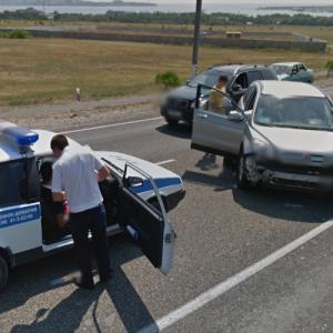 Car Accident in Russia (StreetView)