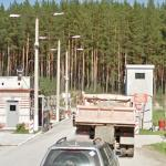 Checkpoint to the closed city of Snezhinsk