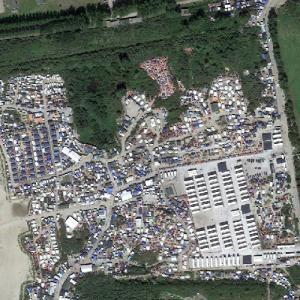 Calais refugee camp (Calais Jungle) (Google Maps)