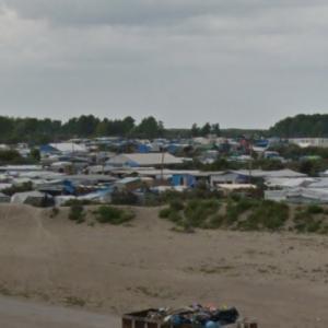 Calais refugee camp (Calais Jungle) (StreetView)