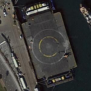 """Just Read the Instructions"" drone ship of SpaceX (Google Maps)"