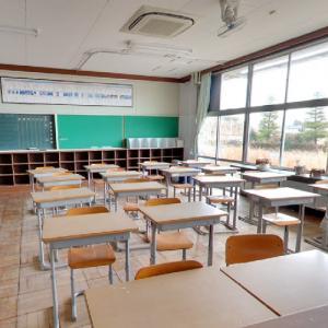 Ōkuma Junior High School, abandoned (2011 Tōhoku earthquake) (StreetView)