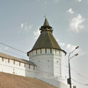 Astrakhan Kremlin - 'Red Gate' Tower (StreetView)